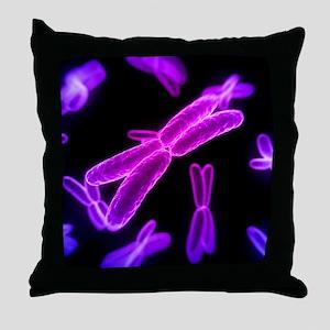 Chromosomes, artwork Throw Pillow