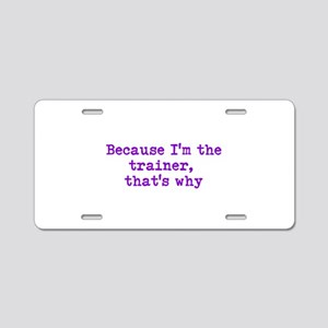 trainerpurple Aluminum License Plate