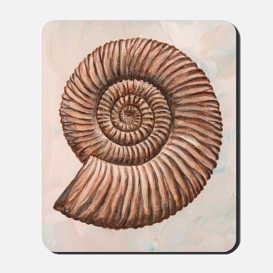 Perisphinctes ammonite, artwork Mousepad