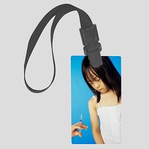 Childhood injection Large Luggage Tag