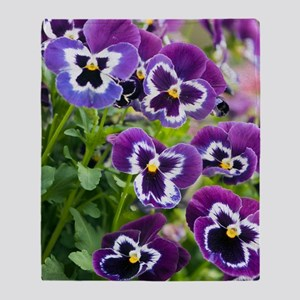 Pansy (Viola x wittrockiana) Throw Blanket