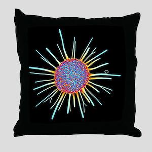Cancer cell, computer artwork Throw Pillow