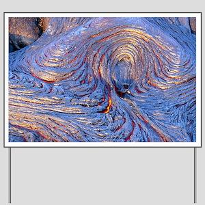 Pahoehoe lava from Kilauea volcano Yard Sign