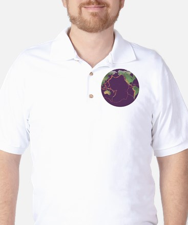 Pacific Ring of Fire Golf Shirt