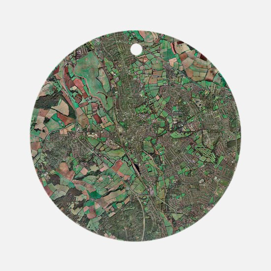 Oxford, UK, aerial image Round Ornament