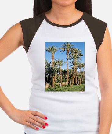 Palm tree plantation Women's Cap Sleeve T-Shirt