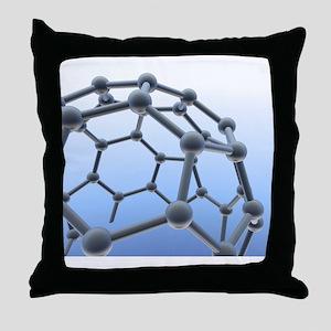 Buckminsterfullerene molecule Throw Pillow