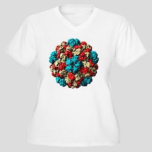 Brome grass mosai Women's Plus Size V-Neck T-Shirt