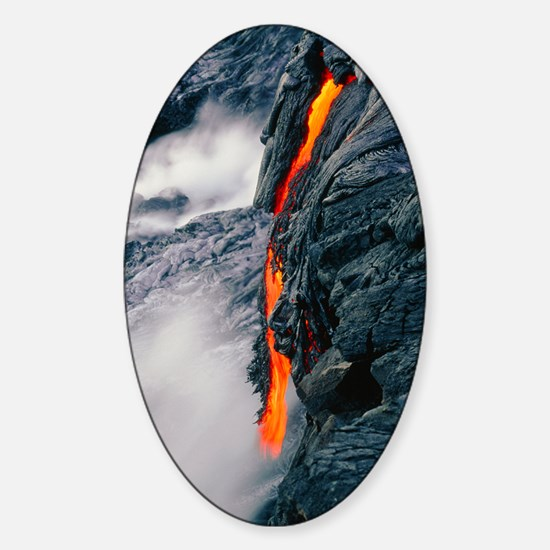 Pahoehoe lava flow from Kilauea vol Sticker (Oval)