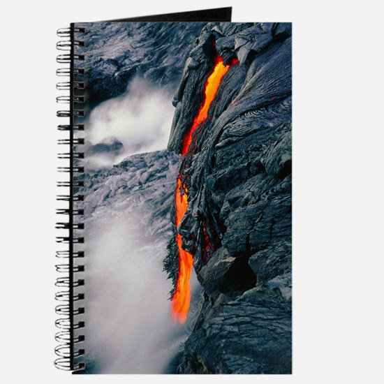 Pahoehoe lava flow from Kilauea volcano, H Journal