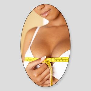 Breast size Sticker (Oval)