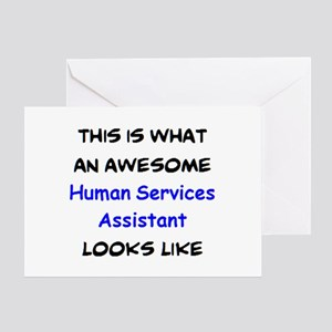 awesome human services assistant Greeting Card