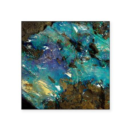 """Opal on bedrock Square Sticker 3"""" x 3"""""""