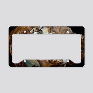 Opal in its host rock License Plate Holder