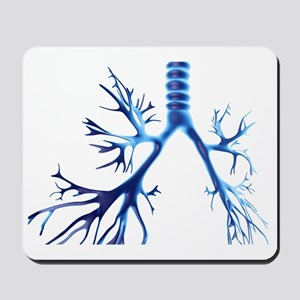 Bronchial tree, computer artwork Mousepad