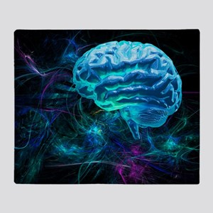 Brain research, conceptual artwork Throw Blanket