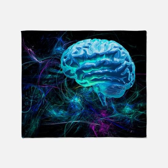 Brain research, conceptual artwork Throw Blanket