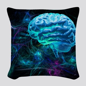 Brain research, conceptual art Woven Throw Pillow