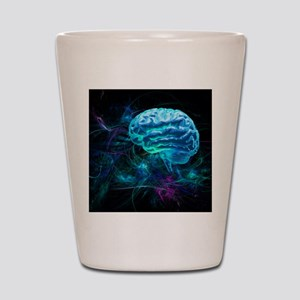Brain research, conceptual artwork Shot Glass