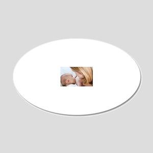 Breastfeeding 20x12 Oval Wall Decal