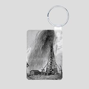Oil well, 19th century Aluminum Photo Keychain