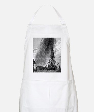 Oil well, 19th century Apron