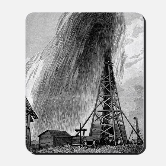 Oil well, 19th century Mousepad