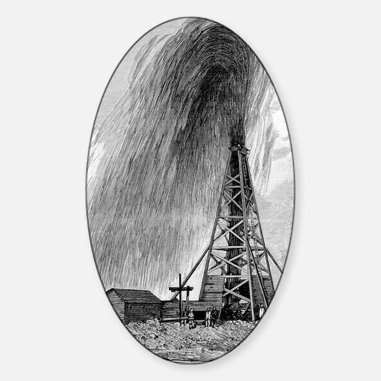 Oil well, 19th century Sticker (Oval)