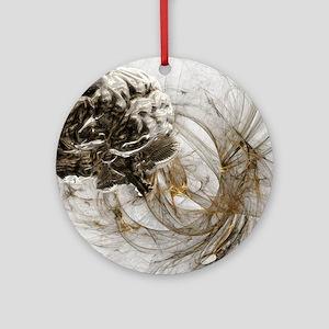 Brain research, conceptual artwork Round Ornament