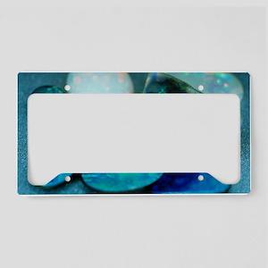 Opal gemstones License Plate Holder