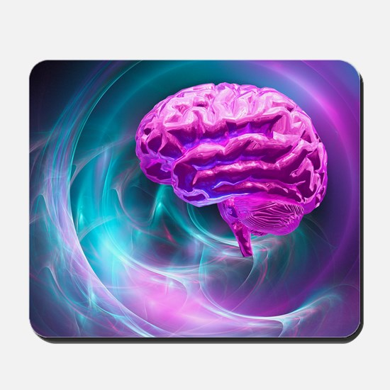 Brain research, conceptual artwork Mousepad