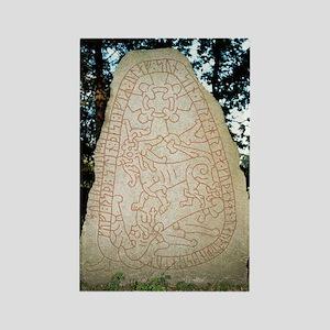 Olsbro rune stone Rectangle Magnet