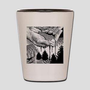Oil pollution Shot Glass