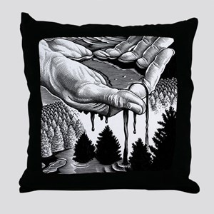 Oil pollution Throw Pillow
