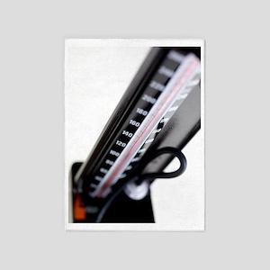 Blood pressure gauge 5'x7'Area Rug