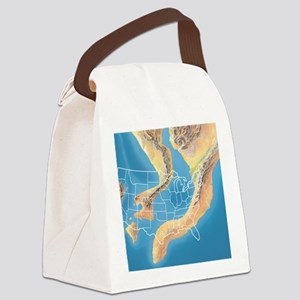 North America, Devonian period Canvas Lunch Bag