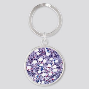 Bone marrow, light micrograph Round Keychain