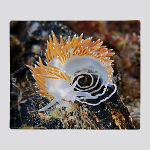 Nudibranch laying eggs Throw Blanket