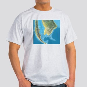 North America, Mid Cretaceous period Light T-Shirt
