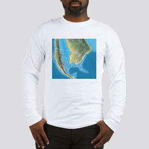 North America, Mid Cretaceous  Long Sleeve T-Shirt