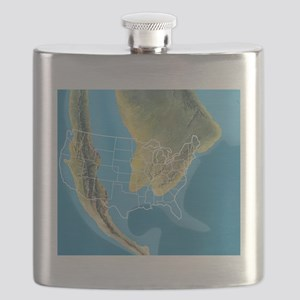 North America, Mid Cretaceous period Flask