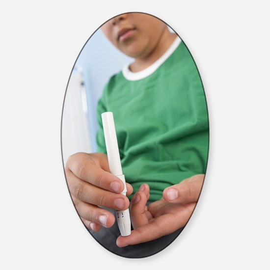 Blood glucose test Sticker (Oval)