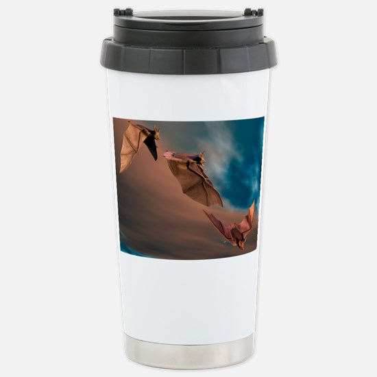 Bats in flight, artwork Stainless Steel Travel Mug