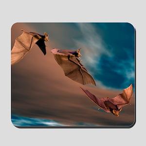 Bats in flight, artwork Mousepad
