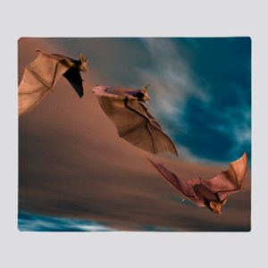 Bats in flight, artwork Throw Blanket