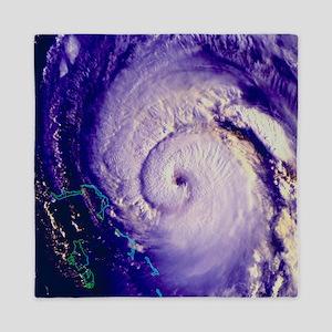 NOAA satellite image of hurricane Fran Queen Duvet