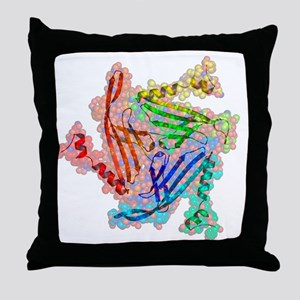 Bacteriophage MS2 capsid protein Throw Pillow