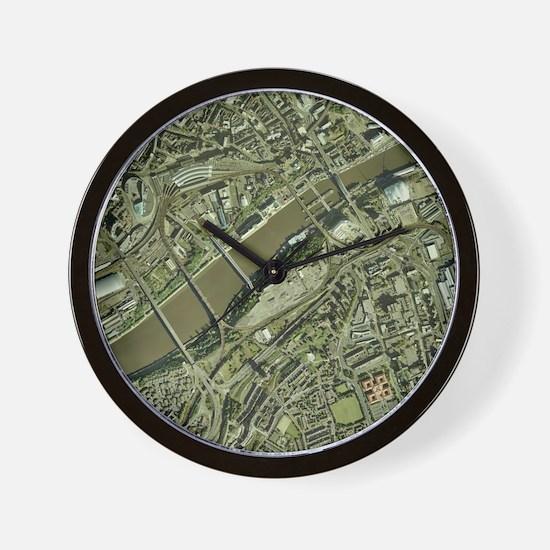 Newcastle upon Tyne, UK, aerial image Wall Clock