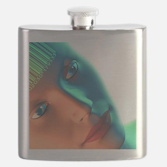 Biometric identification artwork flask