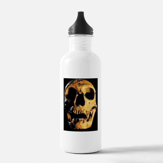 Neanderthal skull Water Bottle